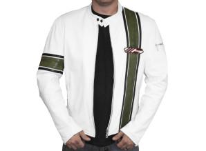 Bullit Jacket - Green & White