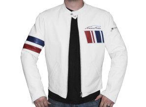 Salt Flat Jacket - White, Red and Blue